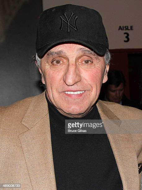 Former New York Yankee Joe Pepitone poses at 'Bronx Bombers' on Broadway at The Circle in The Square Theater on February 11 2014 in New York City