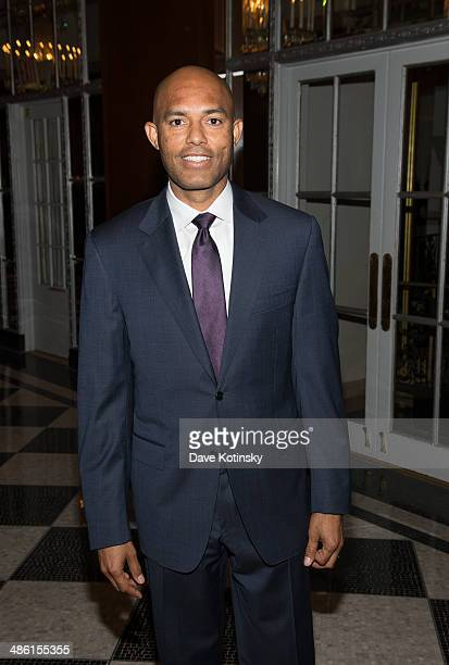 Former New York Yankee Mariano Rivera attends the 35th annual Big Brothers Big Sisters Sidewalks Of New York Awards Dinner at The Waldorf=Astoria on...