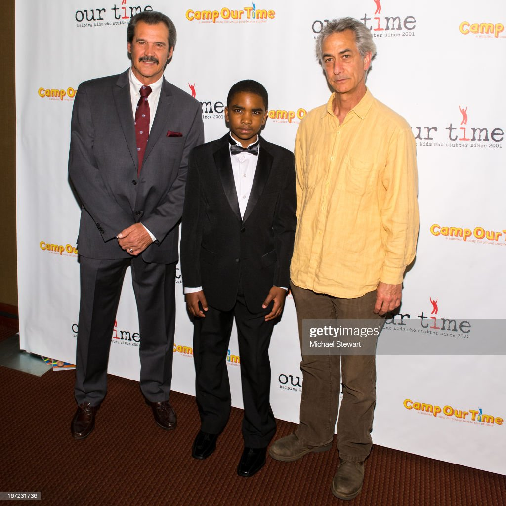 Former New York Yankee player Ron Guidry, Saadiq Wicks and actor David Strathairn attend Our Time's 11th Annual Benefit Gala at the Jack H. Skirball Center for the Performing Arts on April 22, 2013 in New York City.