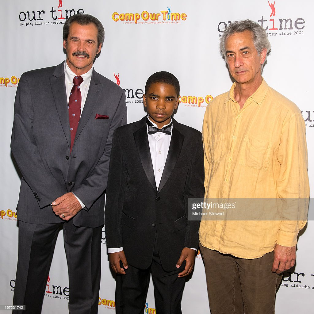 Former New York Yankee player Ron Guidry, Saadiq Wicks and actor <a gi-track='captionPersonalityLinkClicked' href=/galleries/search?phrase=David+Strathairn&family=editorial&specificpeople=676689 ng-click='$event.stopPropagation()'>David Strathairn</a> attend Our Time's 11th Annual Benefit Gala at the Jack H. Skirball Center for the Performing Arts on April 22, 2013 in New York City.
