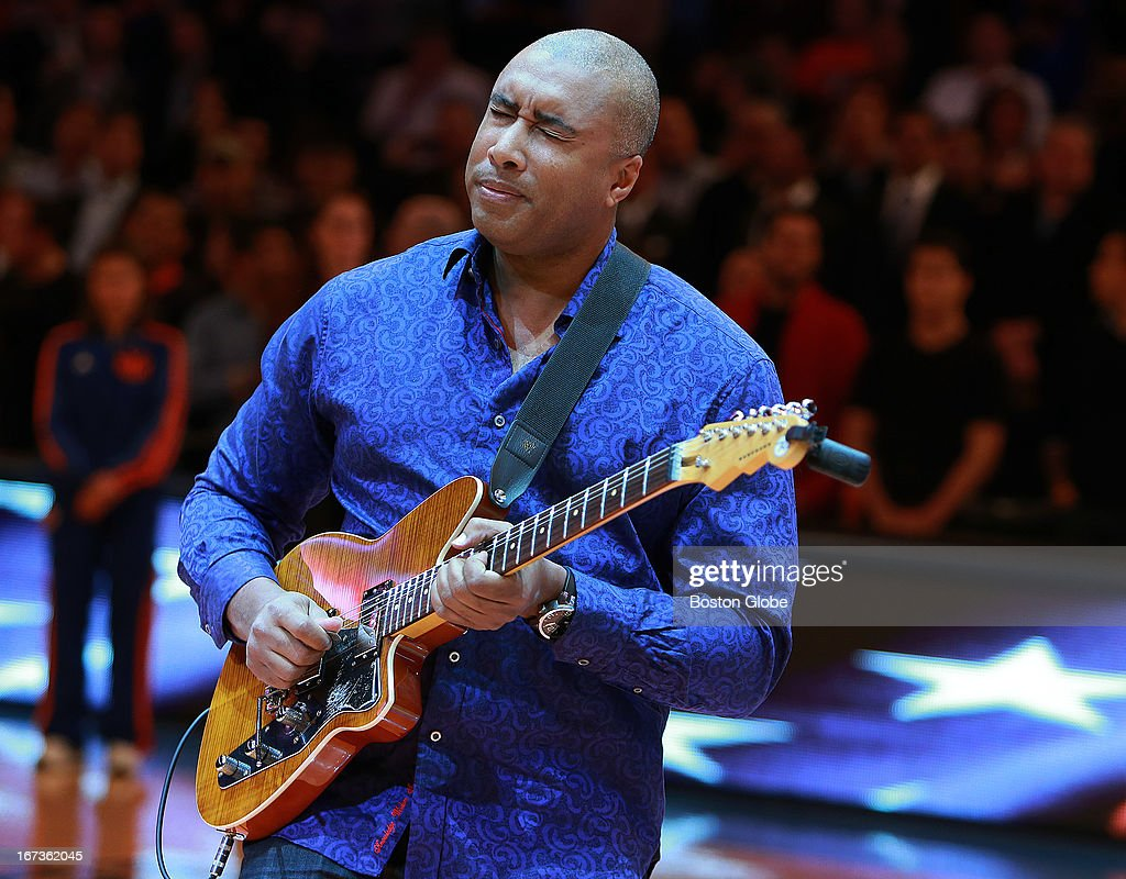 Former New York Yankees outfielder Bernie Williams performed a guitar solo rendition of the national anthem before the game. The Boston Celtics visited the New York Knicks for Game Two of an NBA Eastern Conference Quarter Final series at Madison Square Garden.