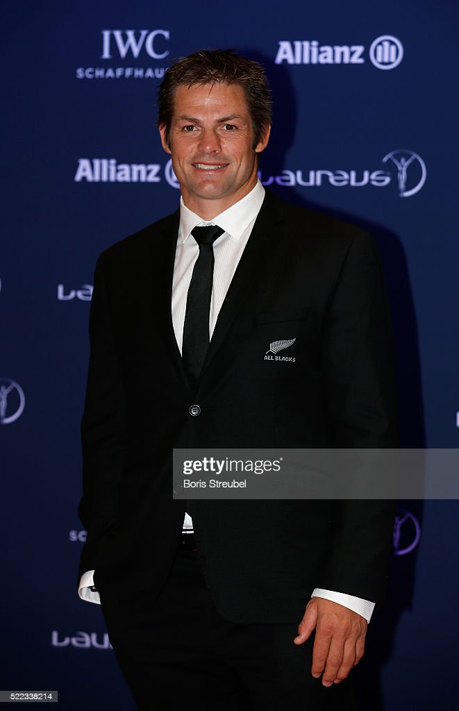 Former New Zealand All Blacks captain Richie McCaw attends the 2016 Laureus World Sports Awards at Messe Berlin on April 18, 2016 in Berlin, Germany.