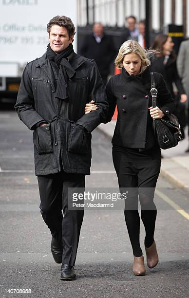 Former New Zealand Cricketer Chris Cairns and his wife Mel Croser arrive at the High Court on March 5 2012 in London England Mr Cairns is suing Lalit...
