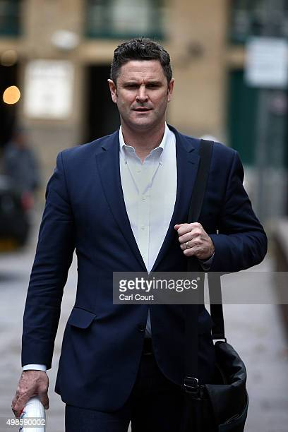 Former New Zealand cricketer Chris Cairns arrives at Southwark Crown Court on November 24 2015 in London England Mr Cairns is currently in court on...