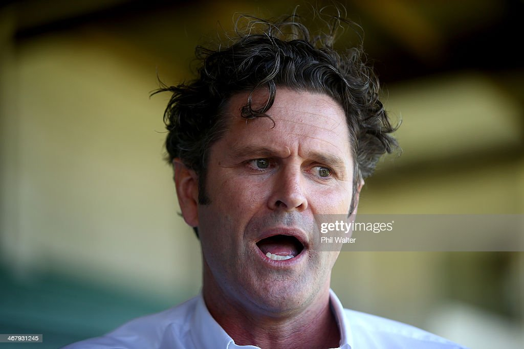 Former New Zealand cricketer Chris Cairns speaks to media after it was confirmed to him that he was under investigation for matchfixing from the...