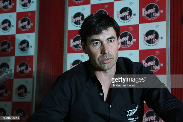 Former New Zealand Cricketer Stephen Paul Fleming during an interview at HT Office on September 7 2016 in New Delhi India