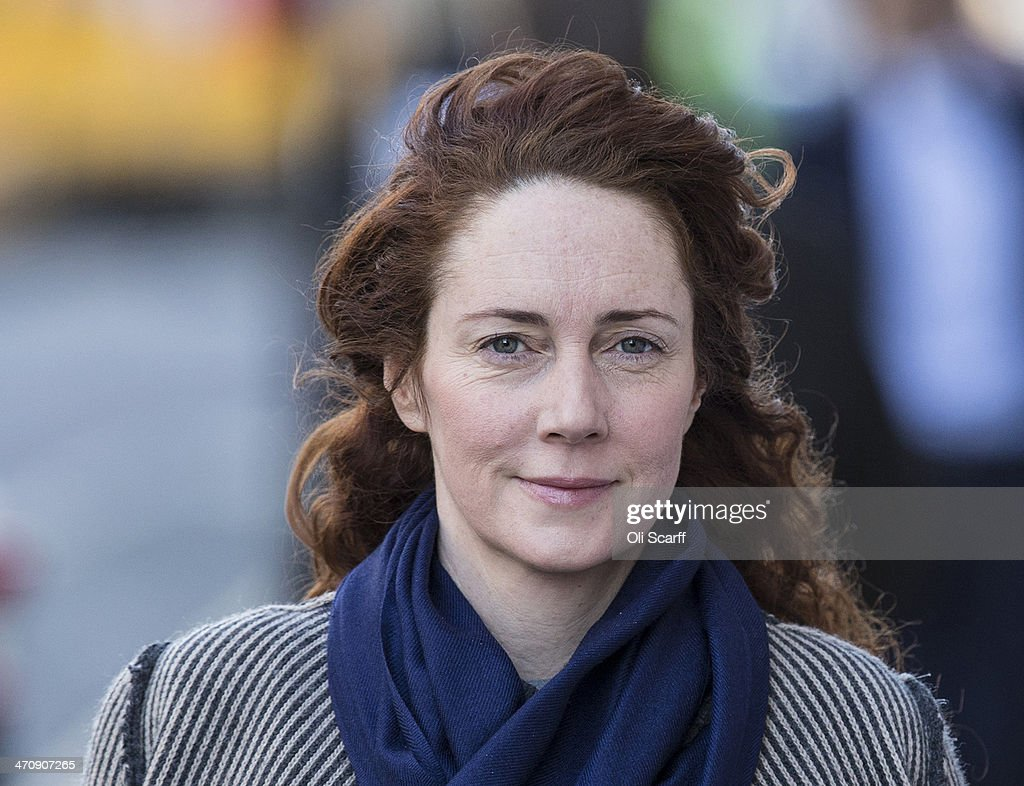 Former News International chief executive <a gi-track='captionPersonalityLinkClicked' href=/galleries/search?phrase=Rebekah+Brooks&family=editorial&specificpeople=6848116 ng-click='$event.stopPropagation()'>Rebekah Brooks</a> arrives at the Old Bailey on February 21, 2014 in London, England. Downing Street's former director of communications and News Of The World editor Andy Coulson and the former News International chief executive <a gi-track='captionPersonalityLinkClicked' href=/galleries/search?phrase=Rebekah+Brooks&family=editorial&specificpeople=6848116 ng-click='$event.stopPropagation()'>Rebekah Brooks</a>, along with six others, face a series of charges linked to the phone hacking of celebrities and others at the now-defunct newspaper.