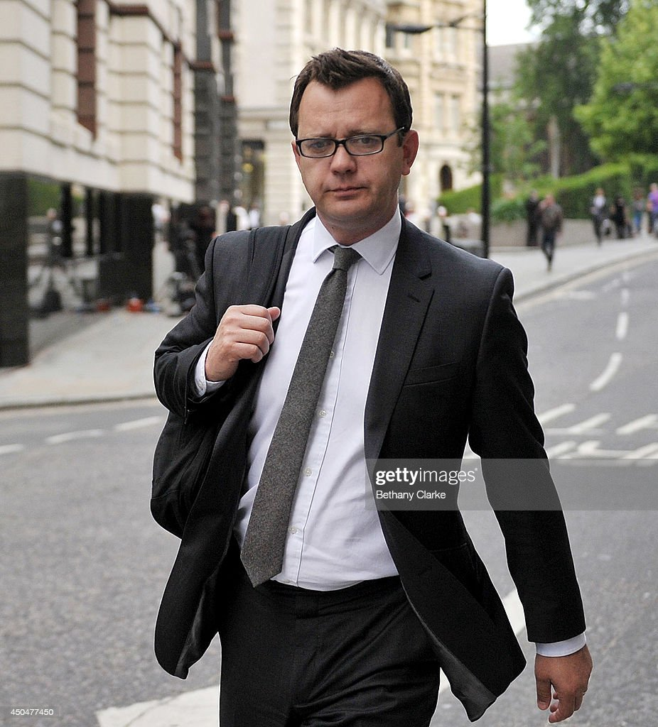 Former News of the World editor and Downing Street communications chief <a gi-track='captionPersonalityLinkClicked' href=/galleries/search?phrase=Andy+Coulson&family=editorial&specificpeople=734849 ng-click='$event.stopPropagation()'>Andy Coulson</a> arrives at Old Bailey on June 12, 2014 in London, England. Downing Street's former director of communications and News Of The World editor <a gi-track='captionPersonalityLinkClicked' href=/galleries/search?phrase=Andy+Coulson&family=editorial&specificpeople=734849 ng-click='$event.stopPropagation()'>Andy Coulson</a> and the former News International chief executive Rebekah Brooks, along with six others, face a series of charges linked to the phone hacking of celebrities and others at the now-defunct newspaper.