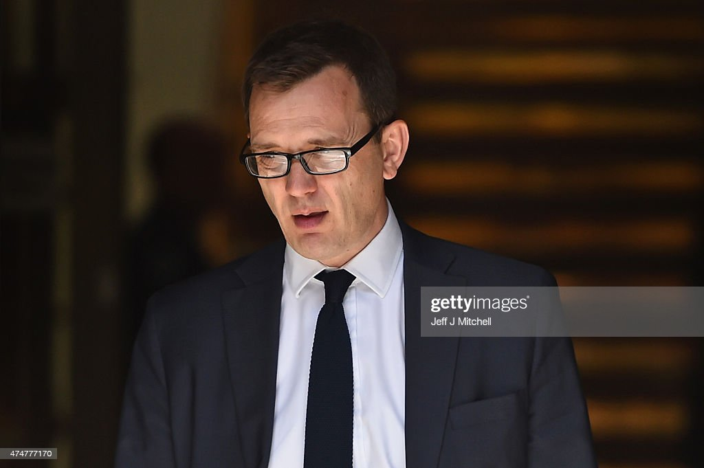 Former News Of The World editor <a gi-track='captionPersonalityLinkClicked' href=/galleries/search?phrase=Andy+Coulson&family=editorial&specificpeople=734849 ng-click='$event.stopPropagation()'>Andy Coulson</a>, attends the perjury trial at the High Court in Edinburgh on May 26, 2015 in Edinburgh,Scotland. Mr Coulson aged 47, a former editor and Prime Minister's former director of communications, is on trial accused of lying under oath in the 2010 perjury trial of Socialist MSP Tommy Sheridan.
