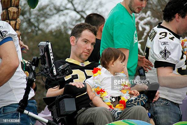 Former NFL New Orleans Saints Safety Steve Gleason with friends that started Team Gleason to generate public awareness and raise funds for...