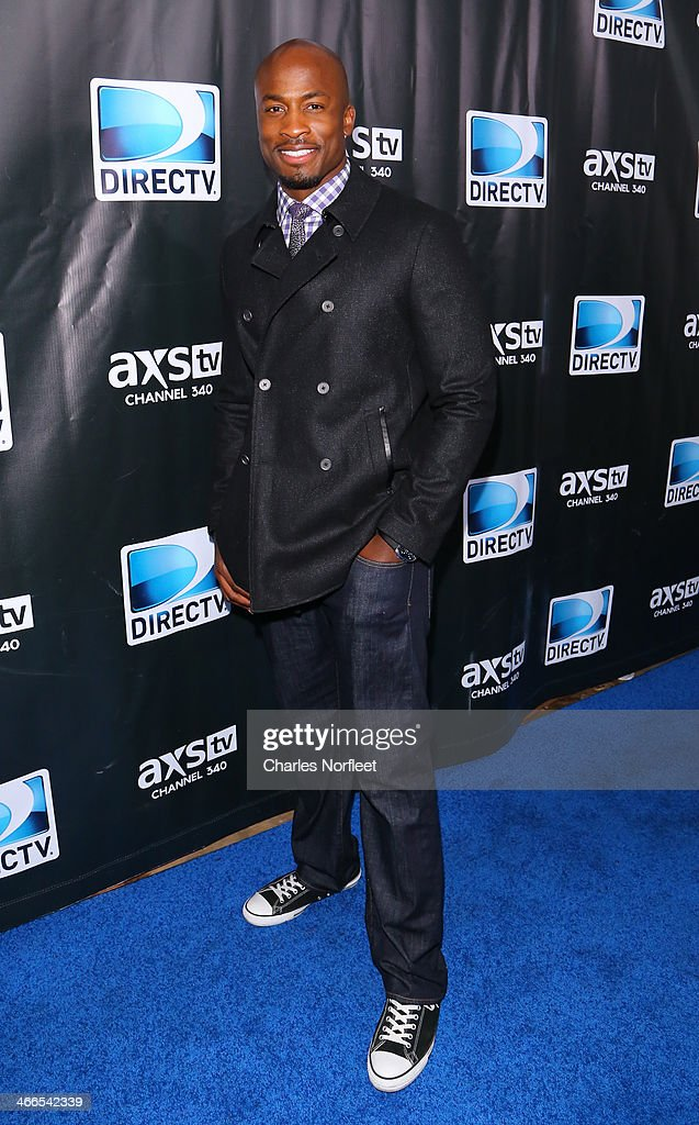 Former NFL player Akbar Gbaja-Biamila attends the DirecTV Super Saturday Night at Pier 40 on February 1, 2014 in New York City.