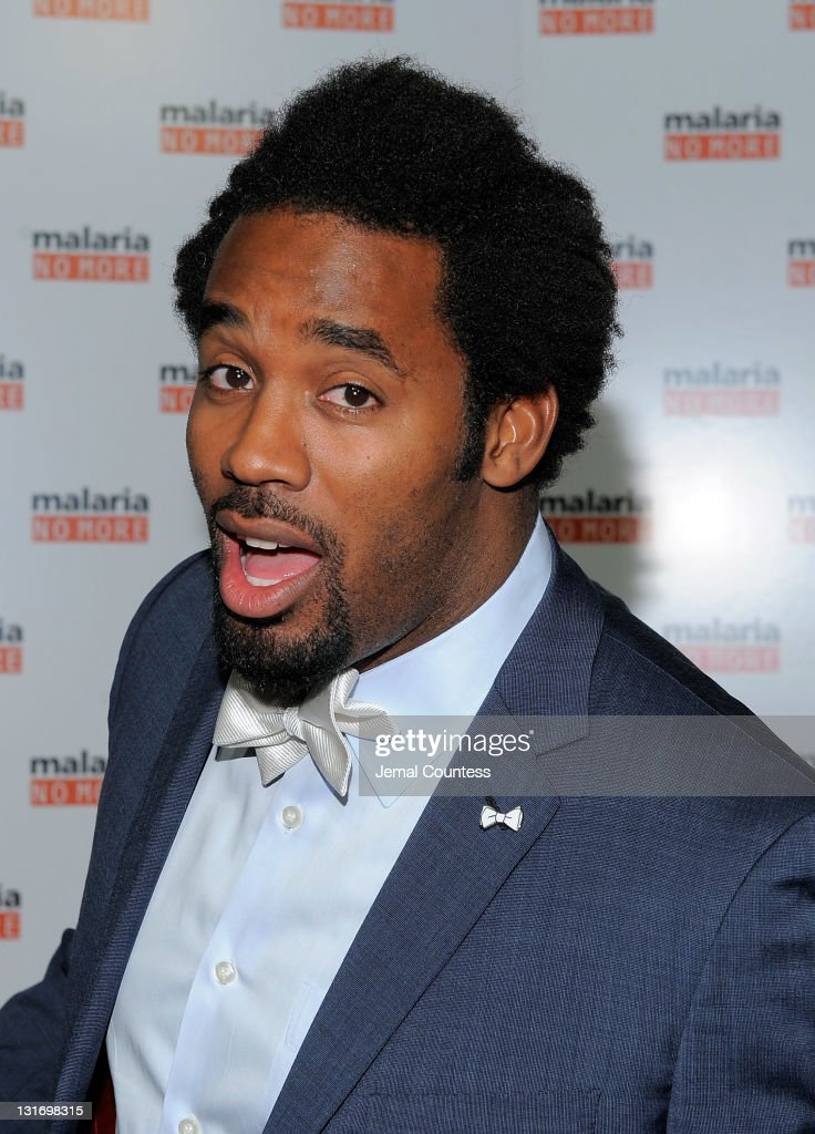 Former NFL Player and media personality Dhani Jones poses for a photo during the Malaria No More International honors Fifth Anniversary Benefit at IAC Building on November 6, 2011 in New York City.