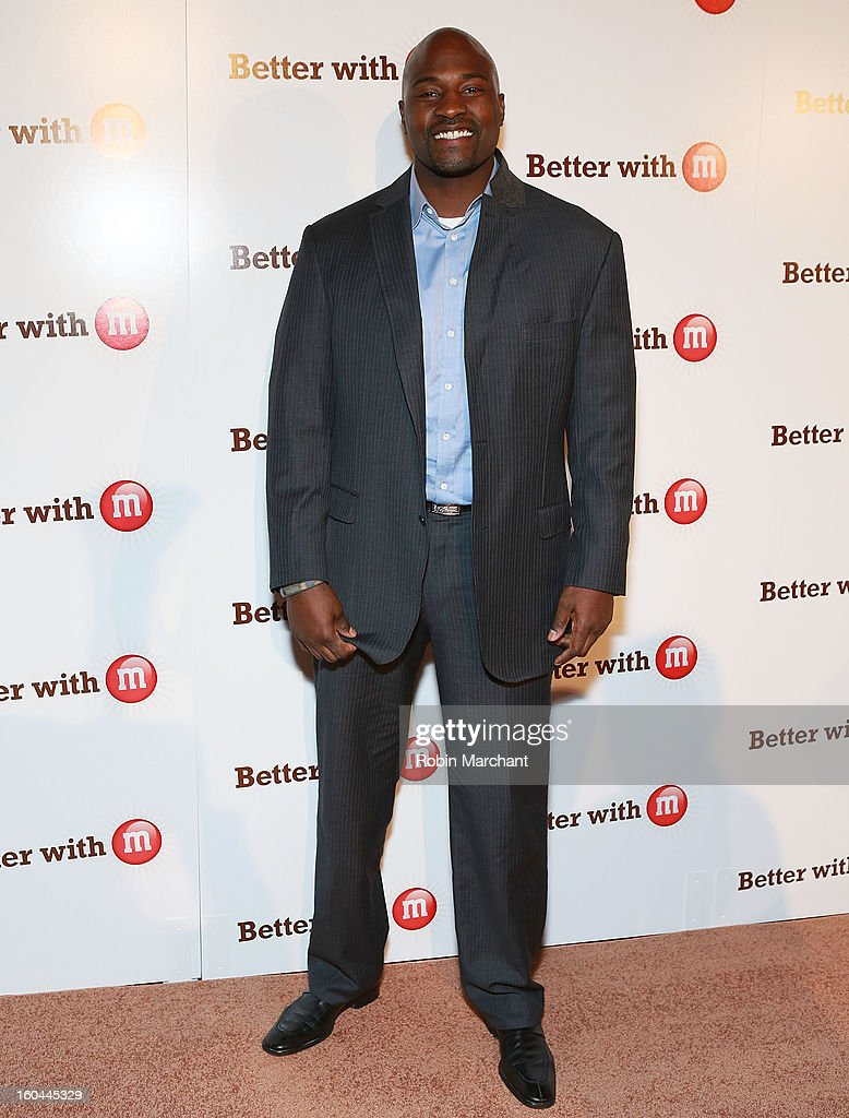 Former NFL player and sports analyst, <a gi-track='captionPersonalityLinkClicked' href=/galleries/search?phrase=Marcellus+Wiley&family=editorial&specificpeople=2122289 ng-click='$event.stopPropagation()'>Marcellus Wiley</a> attends the M&M's Better With M Party at The Foundry on January 31, 2013 in New Orleans, Louisiana.