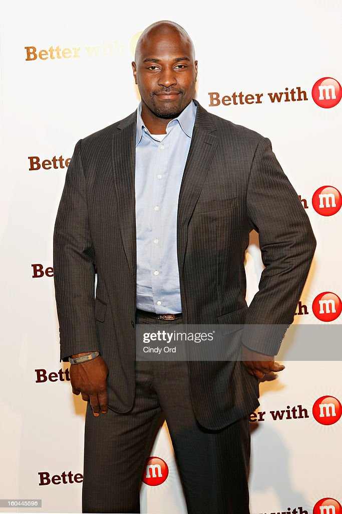 Former NFL player and sports analyst <a gi-track='captionPersonalityLinkClicked' href=/galleries/search?phrase=Marcellus+Wiley&family=editorial&specificpeople=2122289 ng-click='$event.stopPropagation()'>Marcellus Wiley</a> attends the M&M's Better With M Party at The Foundry on January 31, 2013 in New Orleans, Louisiana.
