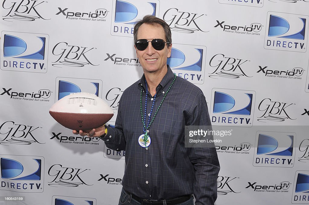 Former NFL player and TV personality Cris Collinsworth attends GBK and DirecTV Celebrity Beach Bowl Thank You Lounge at DTV SuperFan Stadium at Mardi Gras World on February 2, 2013 in New Orleans, Louisiana.