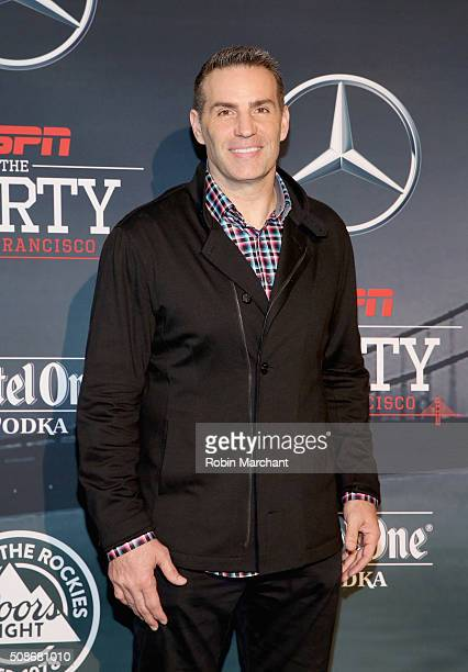 Former NFL player and tv personality Kurt Warner attends ESPN The Party on February 5 2016 in San Francisco California
