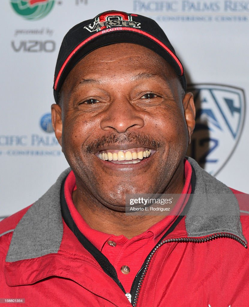 Former NFL player Archie Griffin arrives to the innaugural Rose Bowl Game Golf Classic at Industry Hills Golf Course on December 29, 2012 in City of Industry, California.