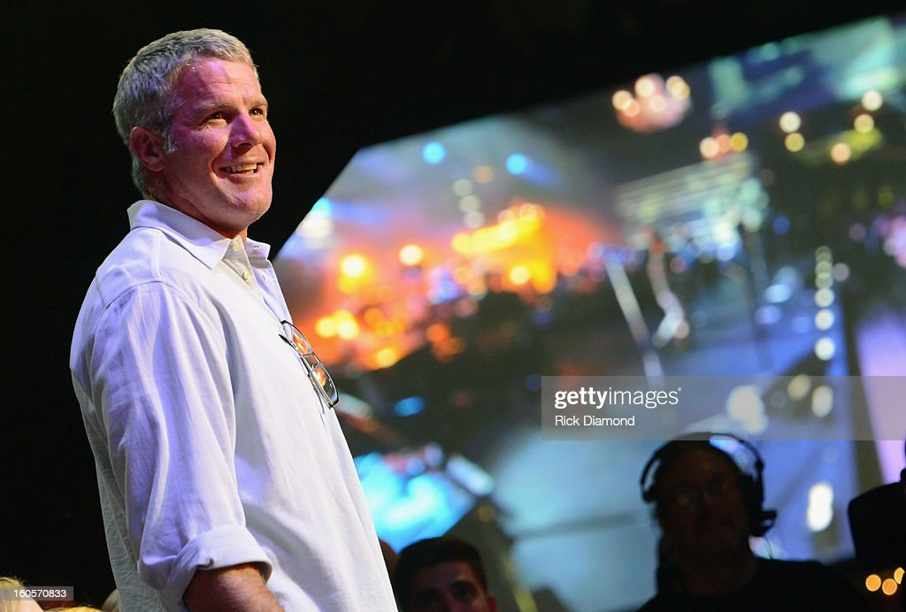 Former NFL player Brett Favre attends Journey and Rascal Flatts headline the Super Bowl XLVII CMT Crossroads Concert on February 2, 2013 in New Orleans, Louisiana.