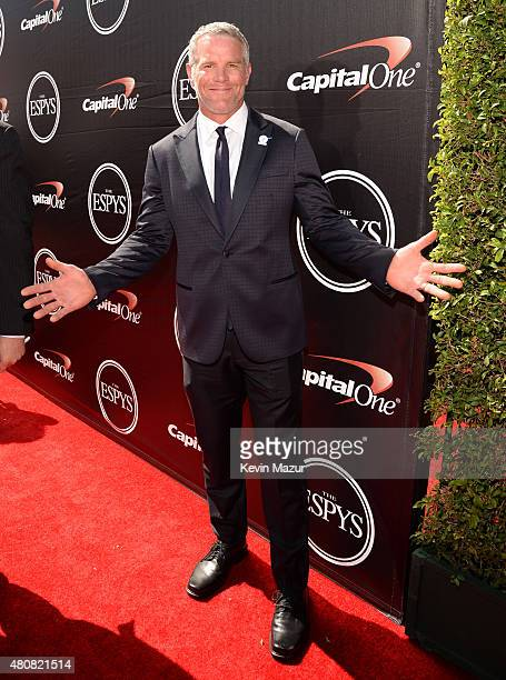 Former NFL player Brett Favre attends The 2015 ESPYS at Microsoft Theater on July 15 2015 in Los Angeles California