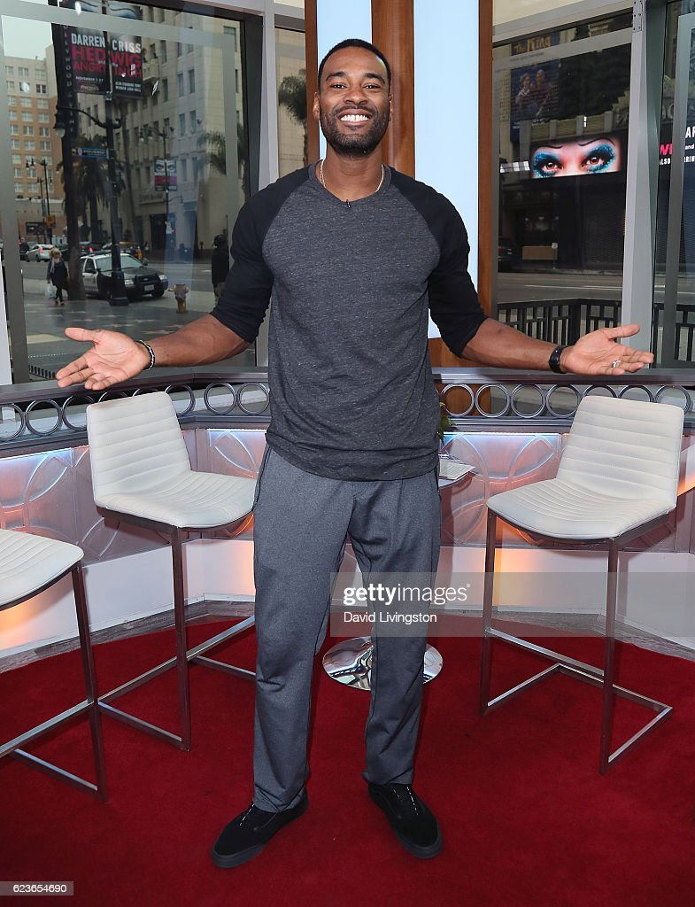 Former NFL player Calvin Johnson visits Hollywood Today Live at W Hollywood on November 16, 2016 in Hollywood, California.