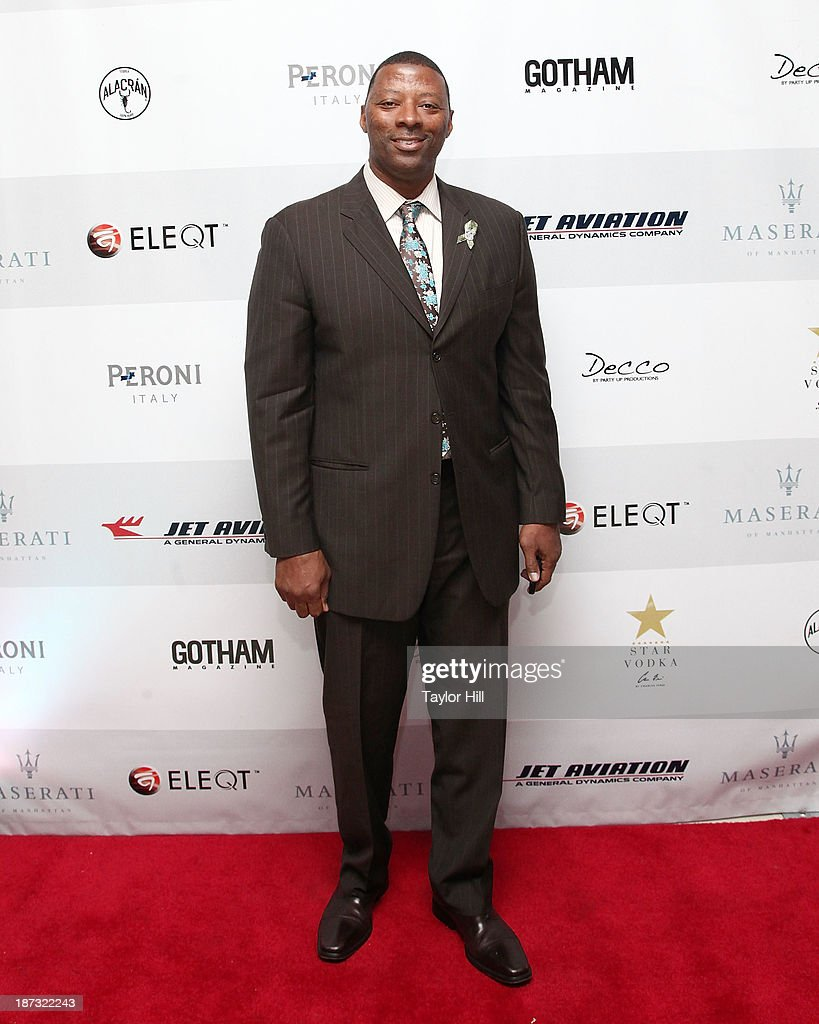 Former NFL player <a gi-track='captionPersonalityLinkClicked' href=/galleries/search?phrase=Carl+Banks&family=editorial&specificpeople=591658 ng-click='$event.stopPropagation()'>Carl Banks</a> attends the launch of the new Maserati in Manhattan showroom and the preview of the 2014 Maserati Ghibli III on November 7, 2013 in New York City.