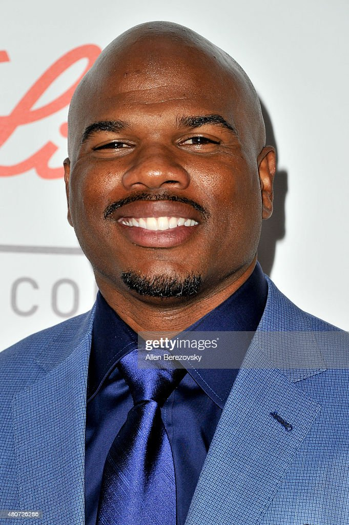 Former NFL player Curtis Conway arrives at the Sports Humanitarian of the Year Awards 2015 at The Conga Room at LA Live on July 14 2015 in Los...