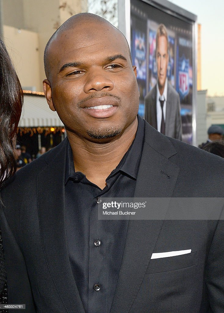 Former NFL player Curtis Conway attends Premiere Of Summit Entertainment's 'Draft Day' at Regency Bruin Theatre on April 7 2014 in Los Angeles...