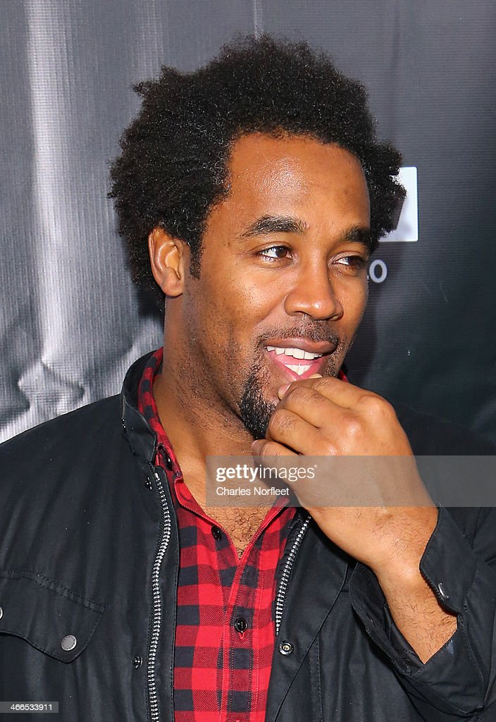 Former NFL player <a gi-track='captionPersonalityLinkClicked' href=/galleries/search?phrase=Dhani+Jones&family=editorial&specificpeople=212903 ng-click='$event.stopPropagation()'>Dhani Jones</a> attends the DirecTV Super Saturday Night at Pier 40 on February 1, 2014 in New York City.