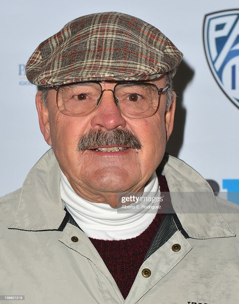 Former NFL player Dick Butkus arrives to the innaugural Rose Bowl Game Golf Classic at Industry Hills Golf Course on December 29, 2012 in City of Industry, California.