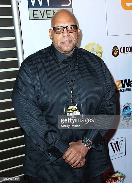 Former NFL Player Emeree Patterson arrives at eZWayCares Community Santa Toy Drive on December 18 2016 in Los Angeles California