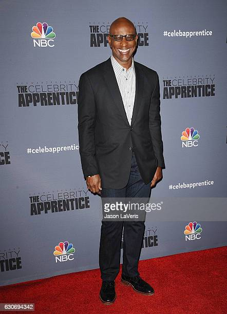 Former NFL player Eric Dickerson attends the press junket For NBC's 'Celebrity Apprentice' at The Fairmont Miramar Hotel Bungalows on January 28 2016...