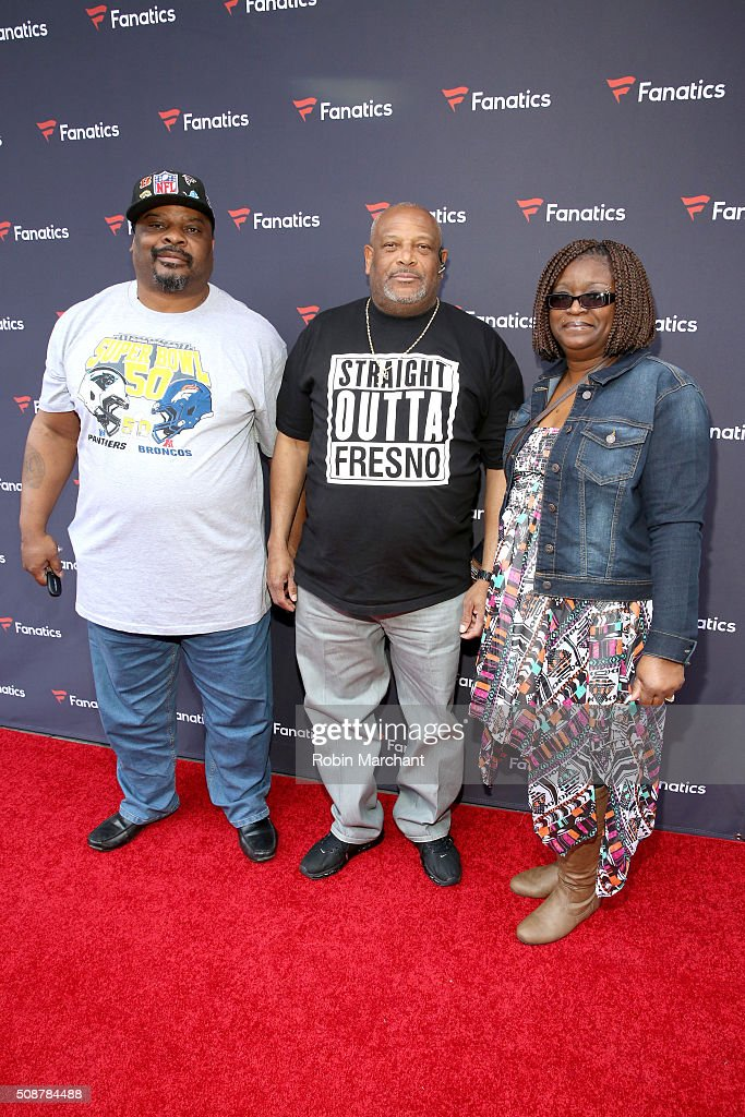 Former NFL player Ickey Woods and guests attend the Fanatics Super Bowl Party on February 6, 2016 in San Francisco, California.