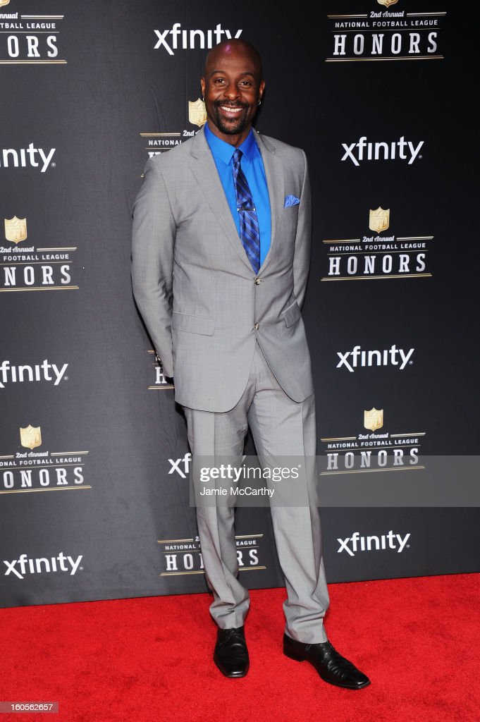 Former NFL player <a gi-track='captionPersonalityLinkClicked' href=/galleries/search?phrase=Jerry+Rice&family=editorial&specificpeople=184559 ng-click='$event.stopPropagation()'>Jerry Rice</a> attends the 2nd Annual NFL Honors at Mahalia Jackson Theater on February 2, 2013 in New Orleans, Louisiana.