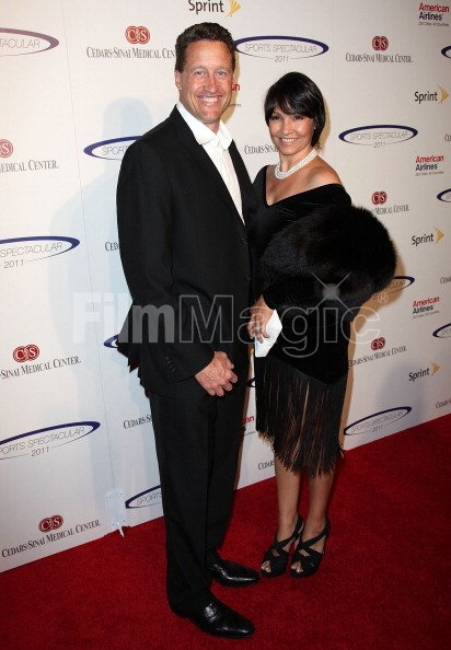 Former NFL player Jim Everett and wife Rachel Everett ...