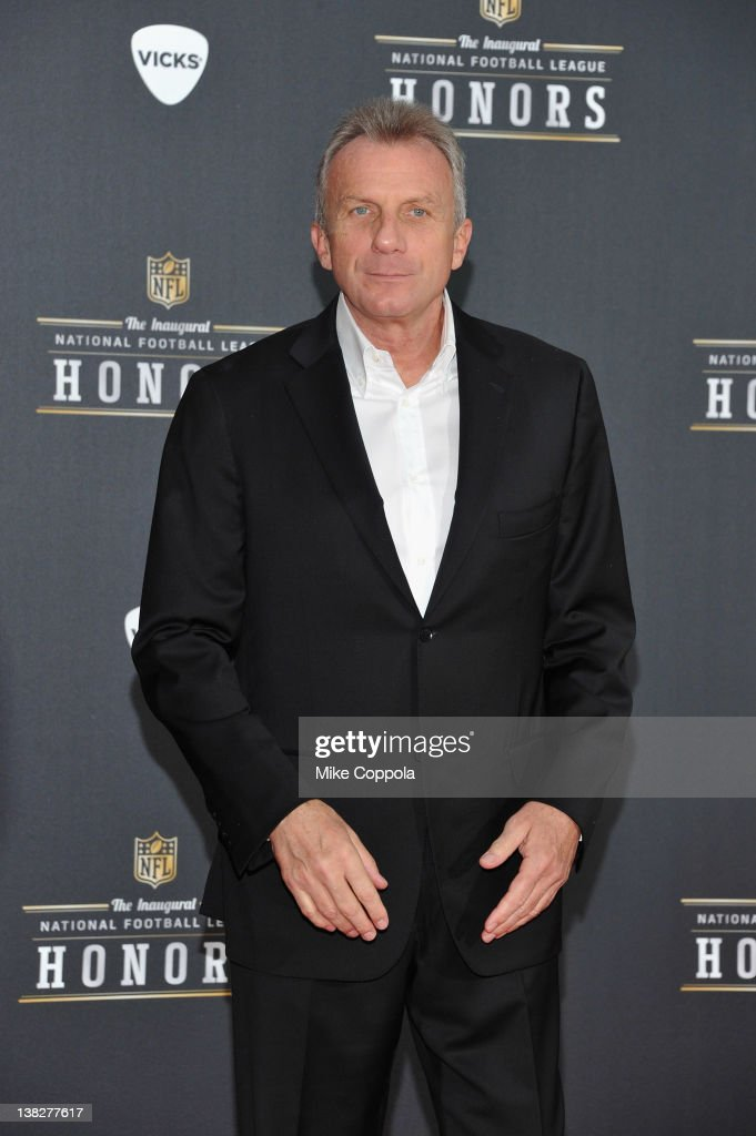 Former NFL player <a gi-track='captionPersonalityLinkClicked' href=/galleries/search?phrase=Joe+Montana&family=editorial&specificpeople=206967 ng-click='$event.stopPropagation()'>Joe Montana</a> attends NFL Honors And Pepsi Rookie Of The Year at Murat Theatre on February 4, 2012 in Indianapolis, Indiana.