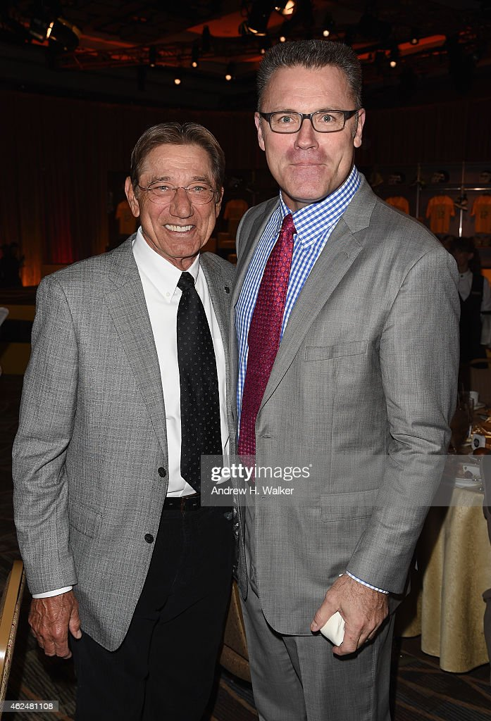 Former NFL player Joe Namath and NFL analyst Howie Long attend the Friars Club Roast of Terry Bradshaw during the ESPN Super Bowl Roast at the...
