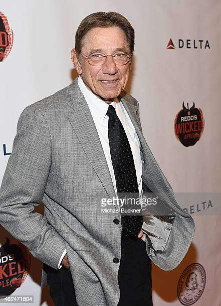 Former NFL player Joe Namath attends the Friars Club Roast of Terry Bradshaw during the ESPN Super Bowl Roast at the Arizona Biltmore on January 29...