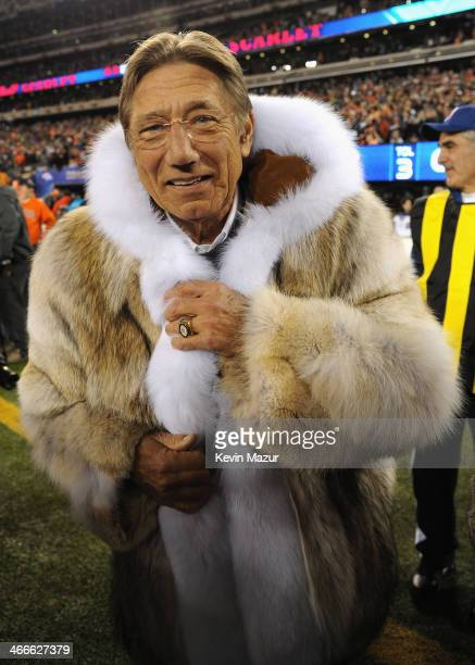 Former NFL player Joe Namath attends the Pepsi Super Bowl XLVIII Pregame Show at MetLife Stadium on February 2 2014 in East Rutherford New Jersey