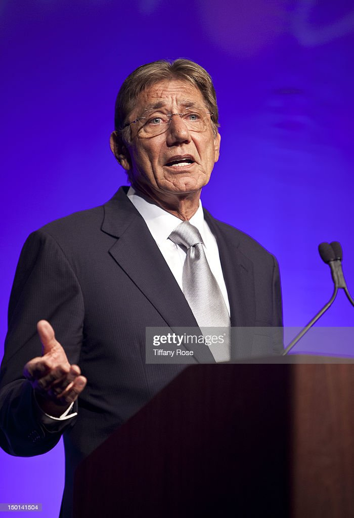 Former NFL player Joe Namath receives the Lifetime Achievement Award at the 12th Annual Harold Pump Foundation Gala at the Hyatt Regency Century Plaza on August 10, 2012 in Century City, California.