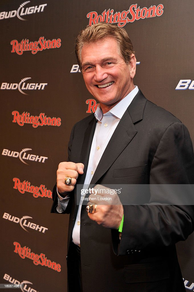 Former NFL player <a gi-track='captionPersonalityLinkClicked' href=/galleries/search?phrase=Joe+Theismann&family=editorial&specificpeople=215194 ng-click='$event.stopPropagation()'>Joe Theismann</a> arrives at the Rolling Stone LIVE party held at the Bud Light Hotel on February 1, 2013 in New Orleans, Louisiana.
