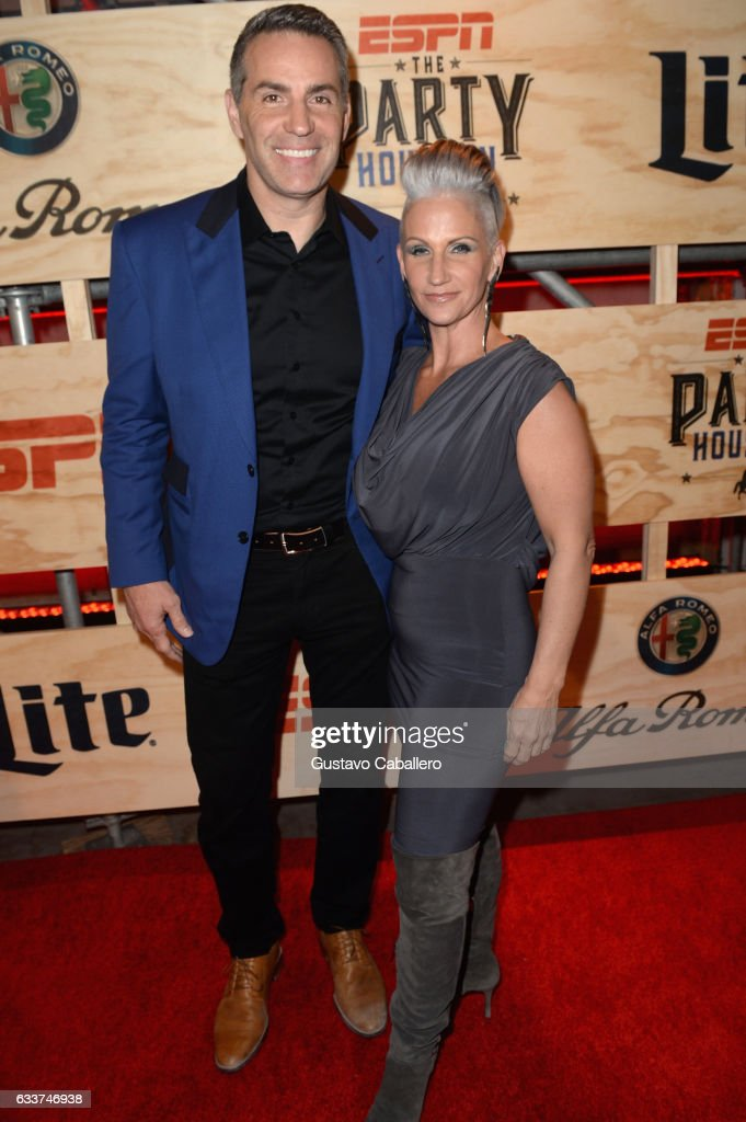 Former NFL player Kurt Warner (L) and author Brenda Warner attend the 13th Annual ESPN The Party on February 3, 2017 in Houston, Texas.
