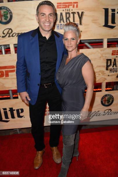 Former NFL player Kurt Warner and author Brenda Warner attend the 13th Annual ESPN The Party on February 3 2017 in Houston Texas