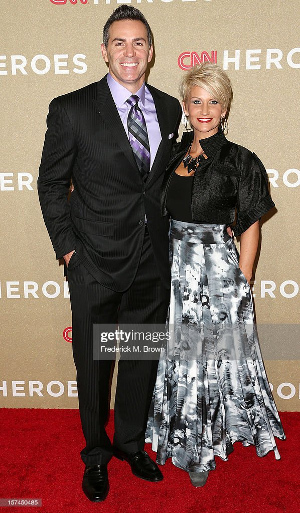 Former NFL player <a gi-track='captionPersonalityLinkClicked' href=/galleries/search?phrase=Kurt+Warner&family=editorial&specificpeople=202571 ng-click='$event.stopPropagation()'>Kurt Warner</a> and his wife attend the CNN Heroes: An All Star Tribute at The Shrine Auditorium on December 2, 2012 in Los Angeles, California.