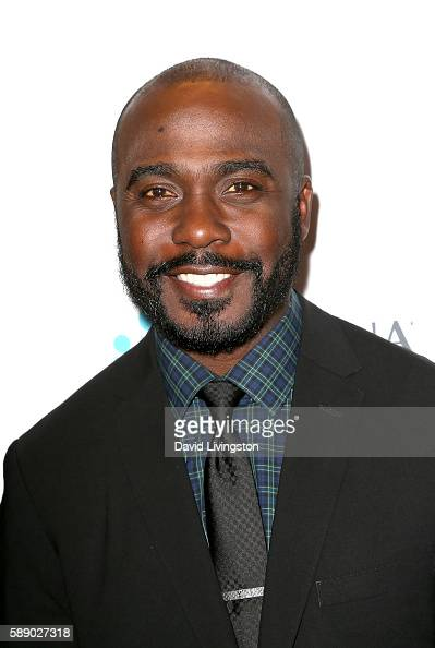 Former NFL player Marshall Faulk attends 16th Annual Harold and Carole Pump Foundation Gala at The Beverly Hilton Hotel on August 12 2016 in Beverly...