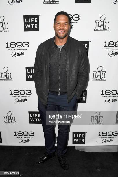 Former NFL player Michael Strahan attends LIFEWTR Art After Dark including 1893 at Club Nomadic during Super Bowl LI Weekend on February 3 2017 in...
