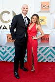 Former NFL player Mike Caussin and recording artist/actress Jana Kramer attend the 51st Academy of Country Music Awards at MGM Grand Garden Arena on...