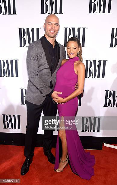 Former NFL player Mike Caussin and singer Jana Kramer attend the 63rd Annual BMI Country awards on November 3 2015 in Nashville Tennessee