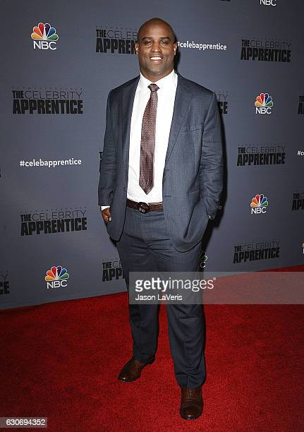 Former NFL player Ricky Williams attends the press junket For NBC's 'Celebrity Apprentice' at The Fairmont Miramar Hotel Bungalows on January 28 2016...