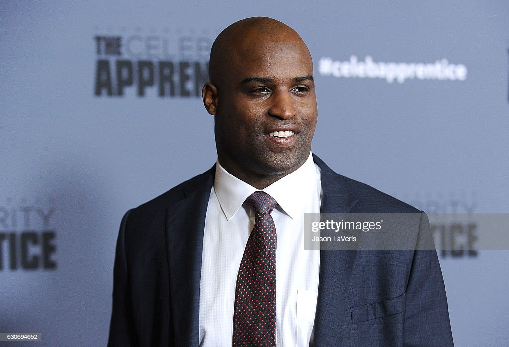 Former NFL player Ricky Williams attends the press junket For NBC's 'Celebrity Apprentice' at The Fairmont Miramar Hotel & Bungalows on January 28, 2016 in Santa Monica, California.