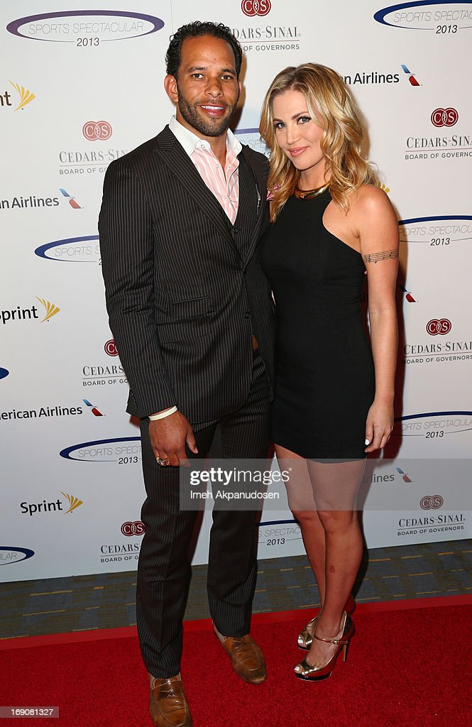 Former NFL player Ryan Nece (L) and 2010 Miss Florida Jaclyn Raulerson attend the 28th Anniversary Sports Spectacular Gala at the Hyatt Regency Century Plaza on May 19, 2013 in Century City, California.
